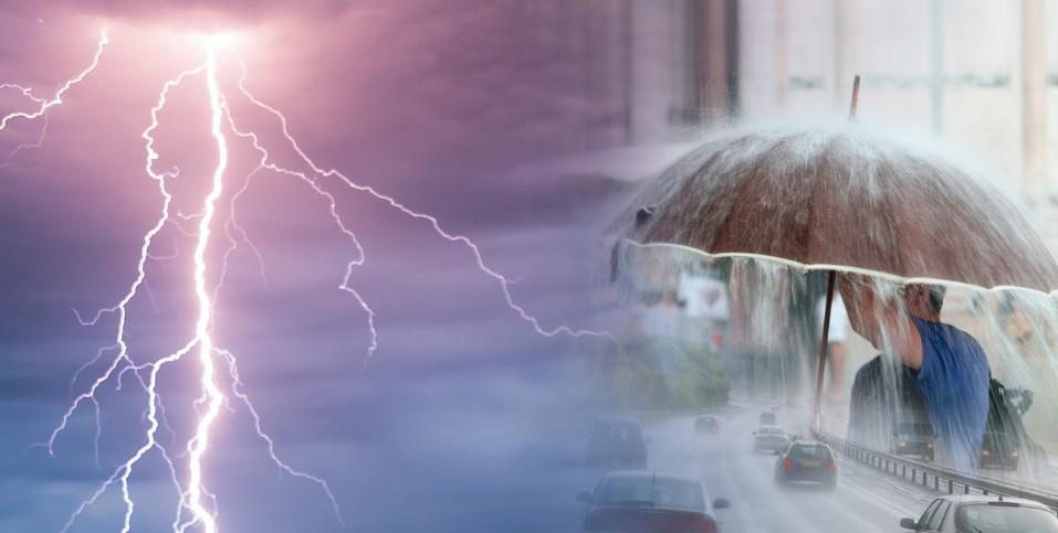 Καιρός Επικίνδυνη μεταβολή του καιρού με συνεχείς βροχοπτώσεις και καταιγίδες
