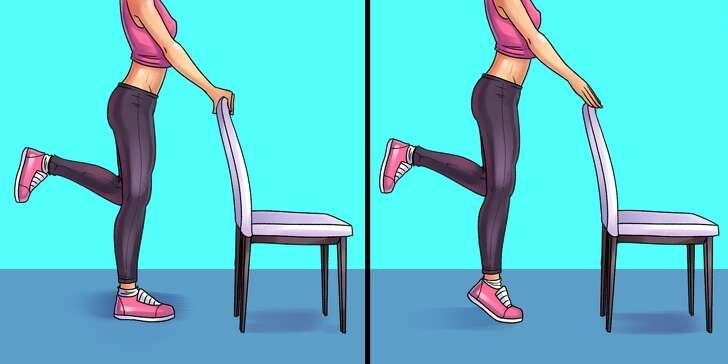 Ασκήσεις ανύψωσης με καρέκλα
