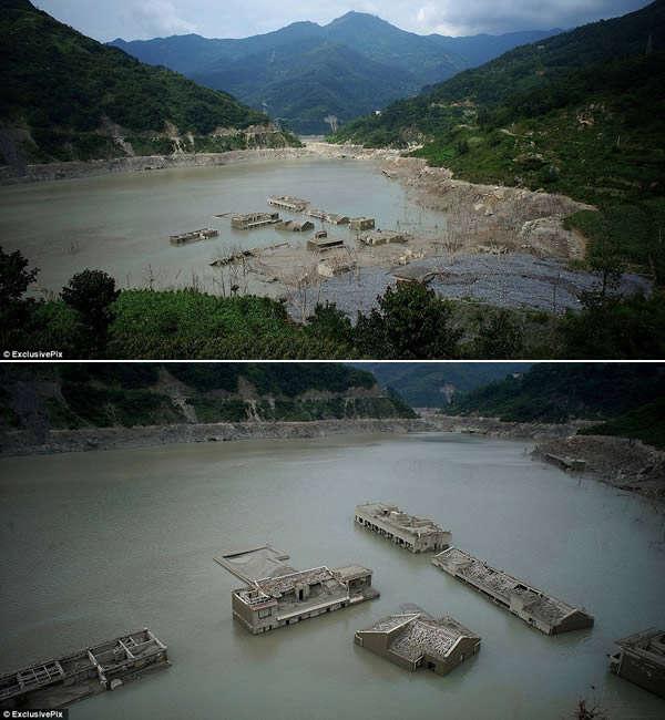 perierga.gr - 8 κτήρια που αναδύθηκαν από το νερό!